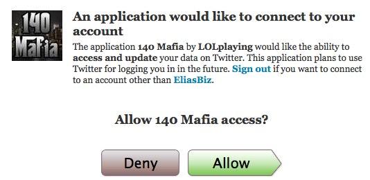Twitter oauth 140 mafia